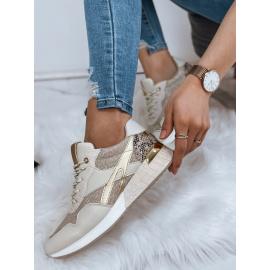 Sneakersy damskie KATHRYN złote ZY0013