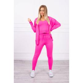 3-piece sweater set pink neon