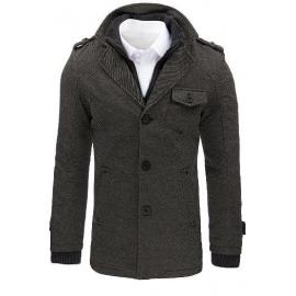 Men's gray herringbone coat CX0404
