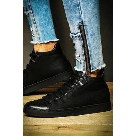 Black men's sneakers ZX0122