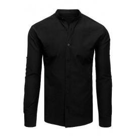 Elegant black men's shirt DX1870
