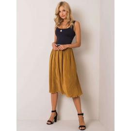 Ciemnożółta spódnica plisowana