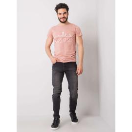 LIWALI Czarne jeansy męskie