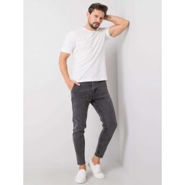 LIWALI Ciemnoszare spodnie jeansowe męskie