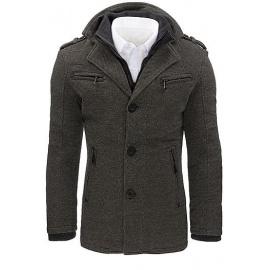 Men's gray herringbone coat CX0403