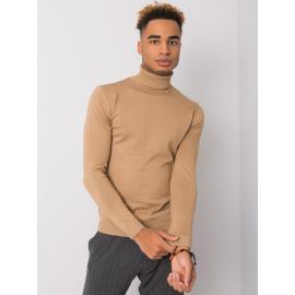 Ciemnobeżowy męski sweter z golfem LIWALI