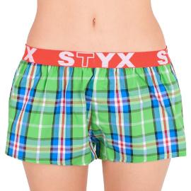 Dámské trenky Styx sportovní guma vícebarevné (T618) L