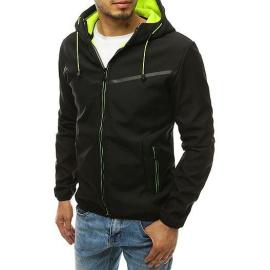 Black men's softshell jacket with hood TX3326