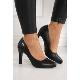 Classic Women's Pumps On A Block Heel Black Eliana