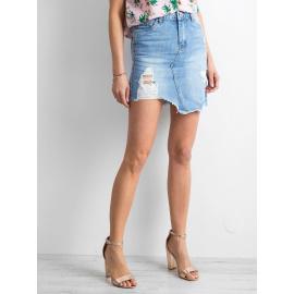 Asymetryczna spódnica jeansowa niebieska