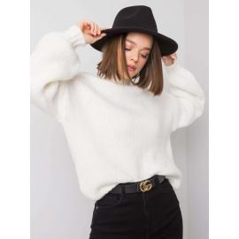 Biały sweter damski z golfem